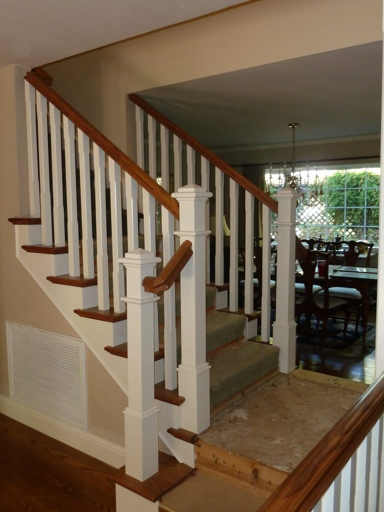 Beautiful Craftsman Style Banister With Square Chamfered