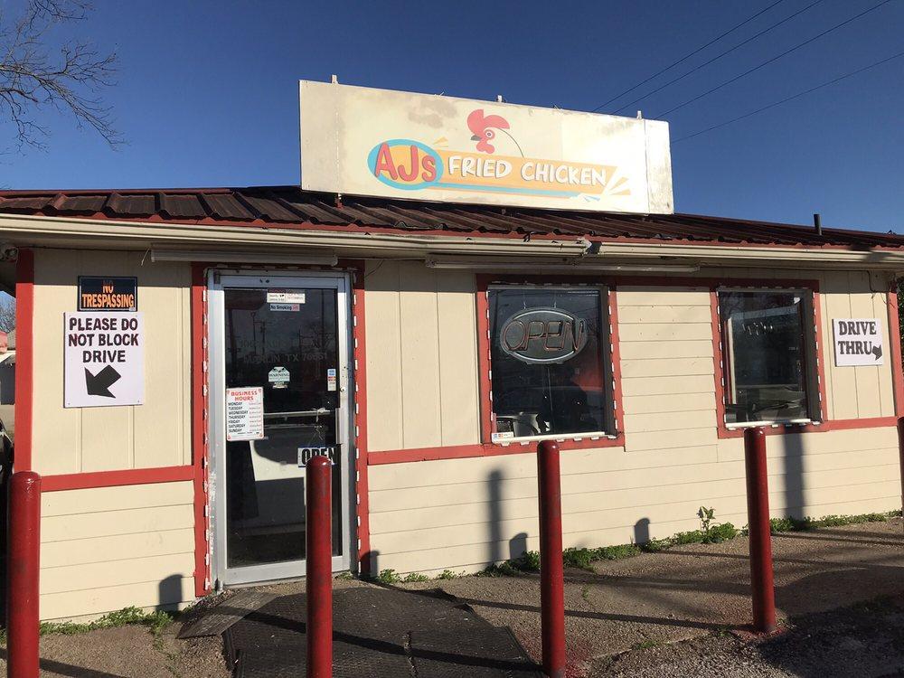 AJ's Fried Chicken: 100 Walker St, Marlin, TX