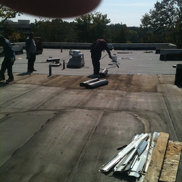 Photo Of DHI Roofing Contractor   Rockville, MD, United States. Flat Roof  Installation