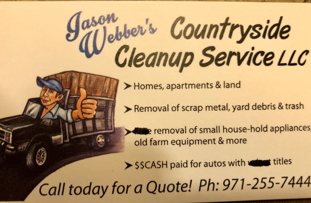 Jason Webber's Countryside Cleanup Service: 536 Hart St, Molalla, OR