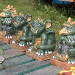 Photo Of Unique Lawn Garden Statues   East Pennant, NS, Canada. Baby  Gargoyle