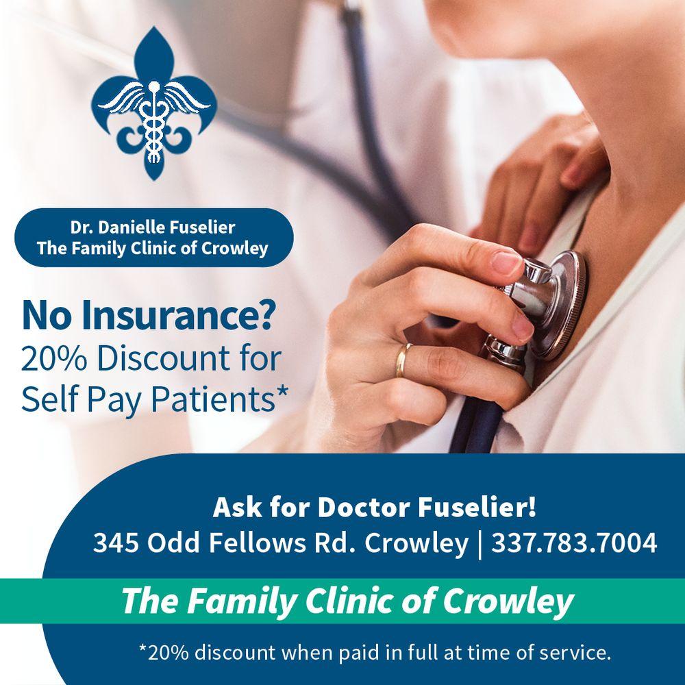 Danielle Fuselier, MD - The Family Clinic of Crowley: 345 Odd Fellows Rd, Crowley, LA