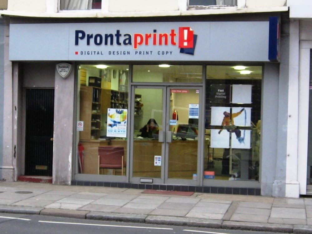 Prontaprint - Printing & Photocopying - 39 Earls Court Road ...