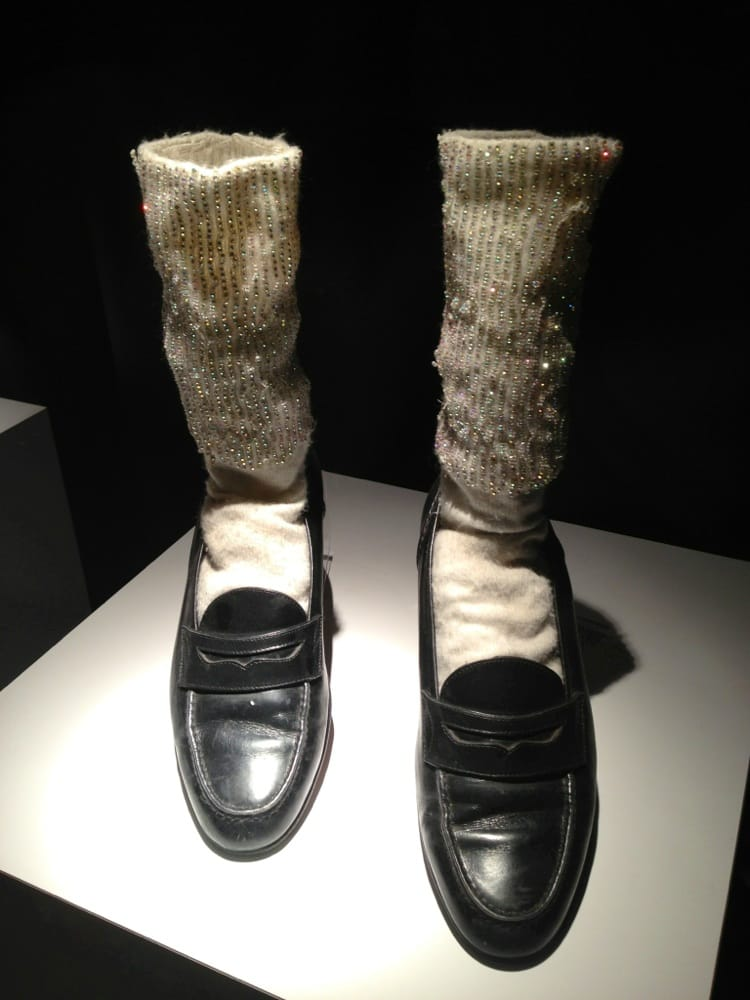 Authentic Mj Leather Shoes And Swarovski Crystal Socks