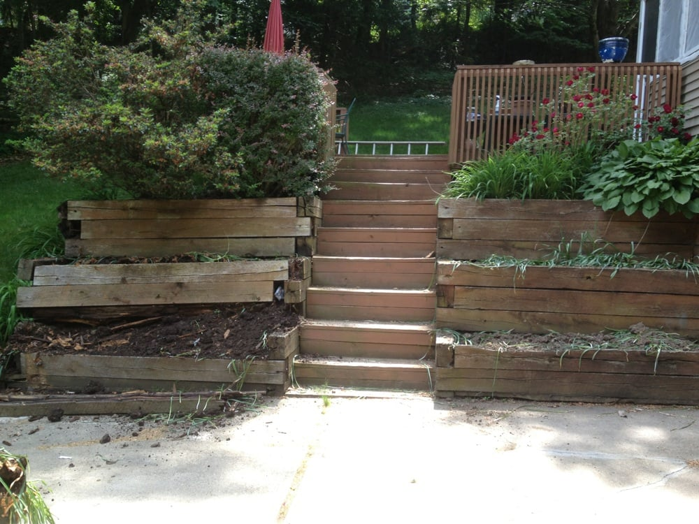 Masonry Makeover Before Concrete Driveway Steps And