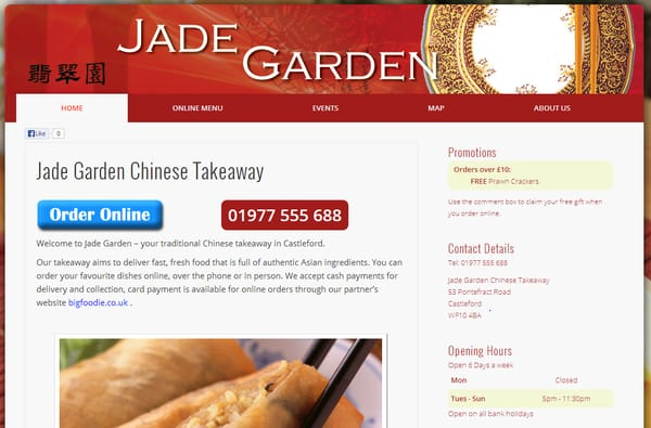 Scenic Jade Garden Chinese  Takeaway  Fast Food   Pontefract Road  With Handsome Photo Of Jade Garden Chinese  Castleford West Yorkshire United Kingdom With Delightful Garden Rooms Surrey Also Vegetable Container Gardening In Addition Tennis Court Garden And Browns Covent Garden Menu As Well As Garden Centre A Additionally Fairy Garden Pots From Yelpcouk With   Handsome Jade Garden Chinese  Takeaway  Fast Food   Pontefract Road  With Delightful Photo Of Jade Garden Chinese  Castleford West Yorkshire United Kingdom And Scenic Garden Rooms Surrey Also Vegetable Container Gardening In Addition Tennis Court Garden From Yelpcouk