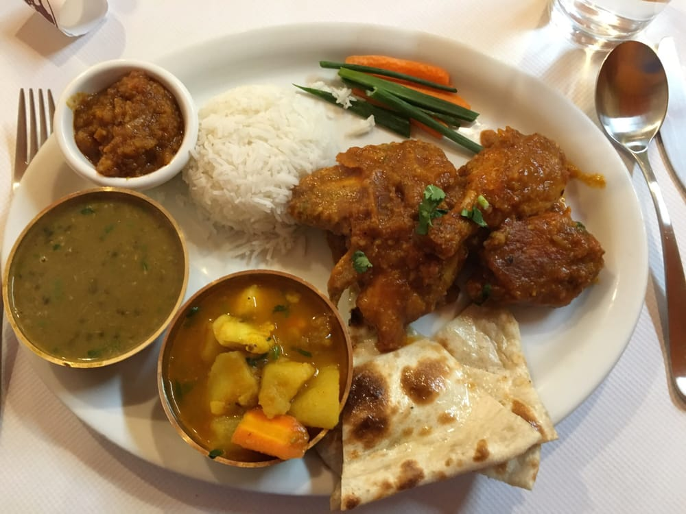 Sunde chicken curry combo yelp for Cuisine of nepal