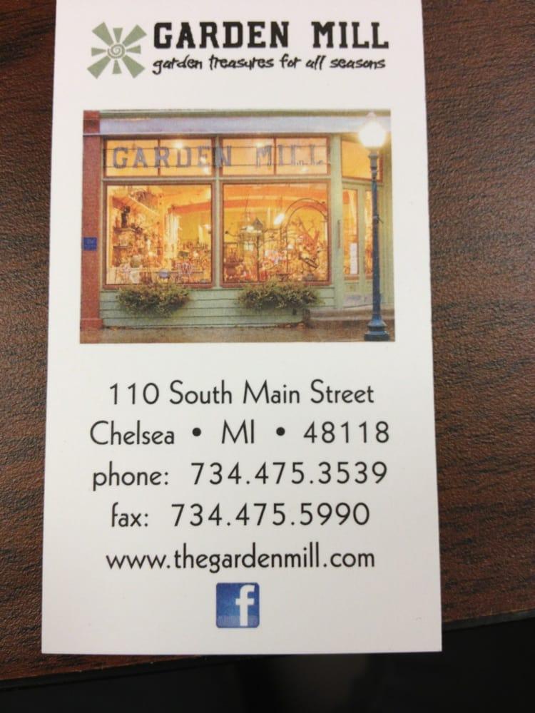 Garden Mill: 110 S Main St, Chelsea, MI