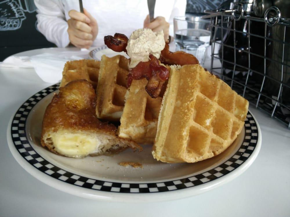Brown sugar, bacon, and banana waffles - Yelp