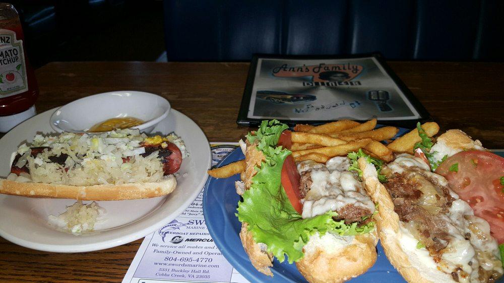 Ann's Family Diner: 6545 Market Dr, Gloucester Courthouse, VA