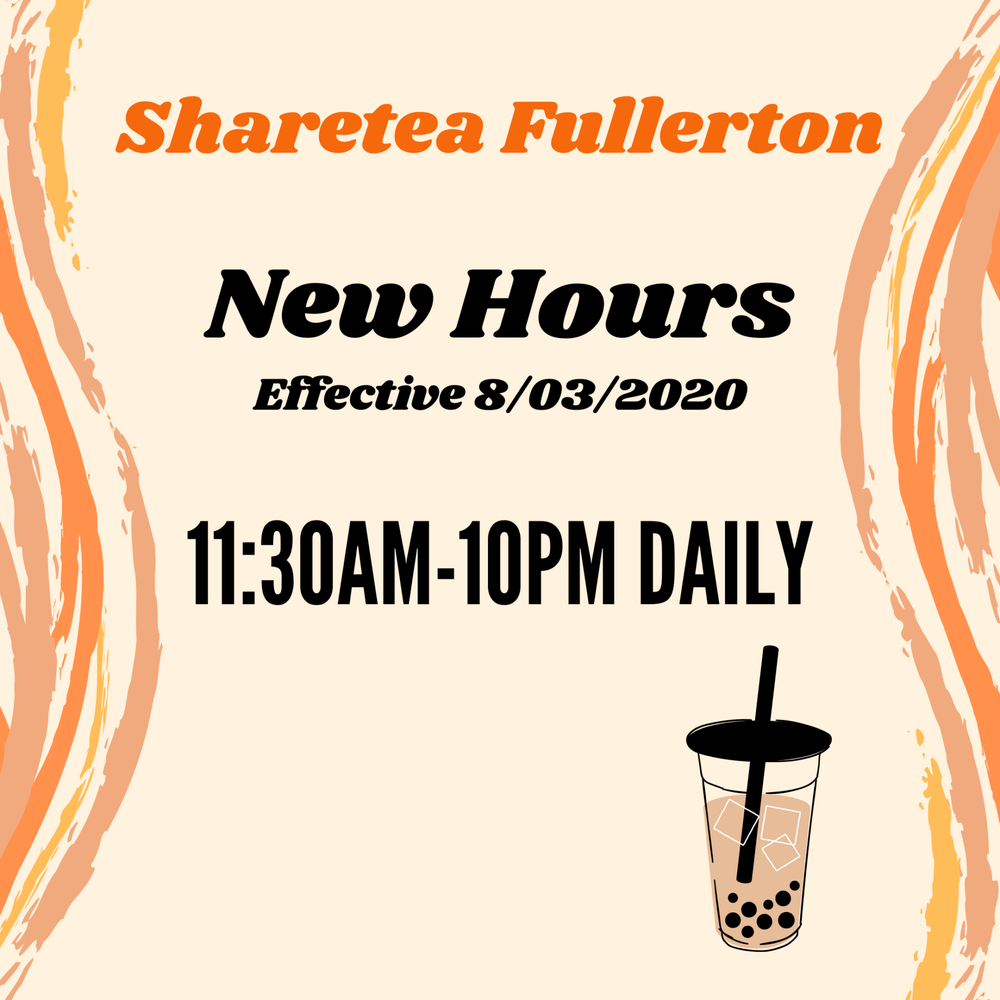 Sharetea: 2445 E Chapman Ave, Fullerton, CA
