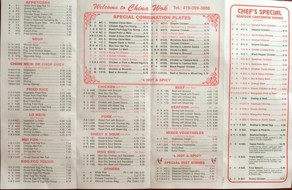 china wok menu page 2  yelp