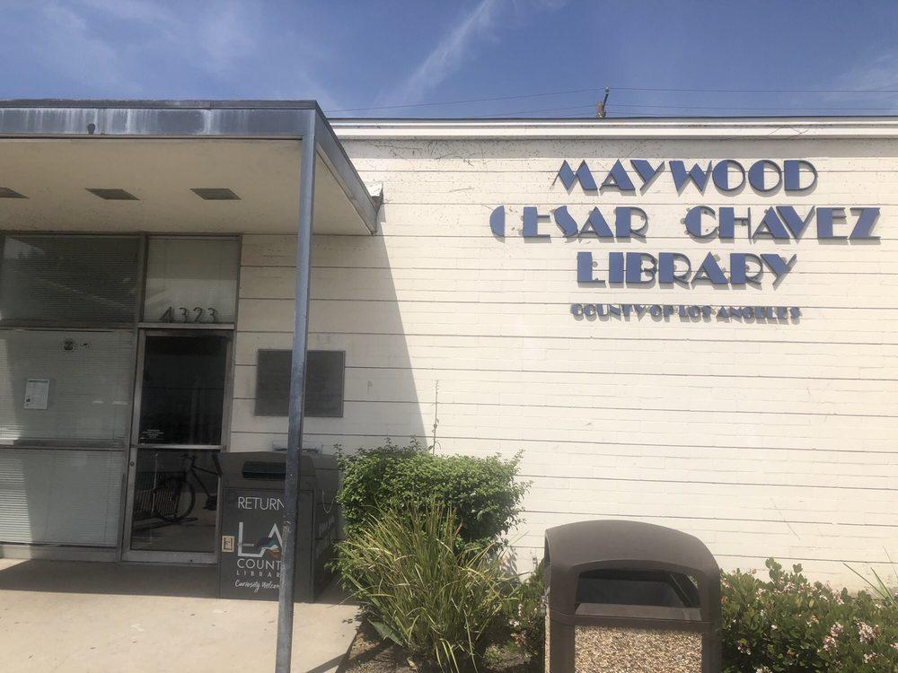 LA County Library - Maywood Cesar Chavez Library: 4323 E Slauson Ave, Maywood, CA