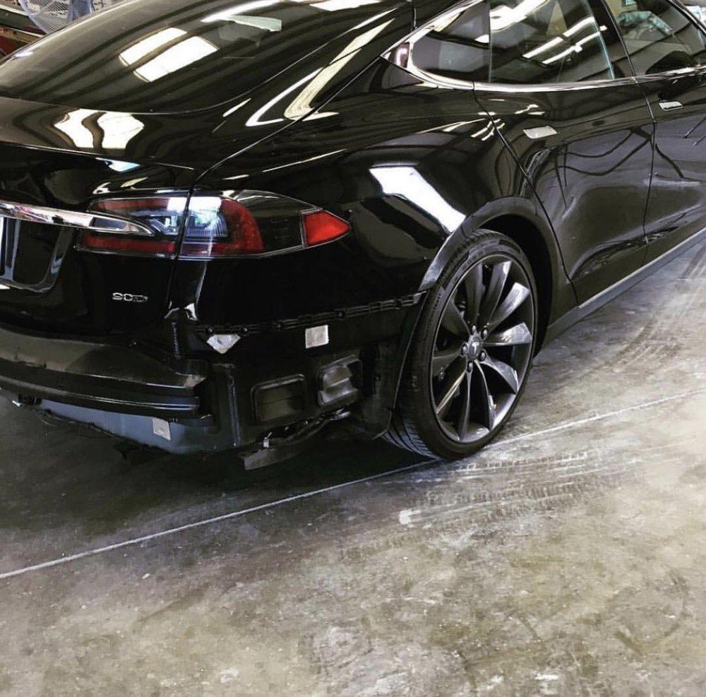 Tesla rear bumper repair - Yelp