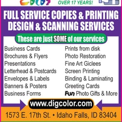 Digital color printing services 1573 e 17th st idaho falls id photo of digital color idaho falls id united states were colourmoves