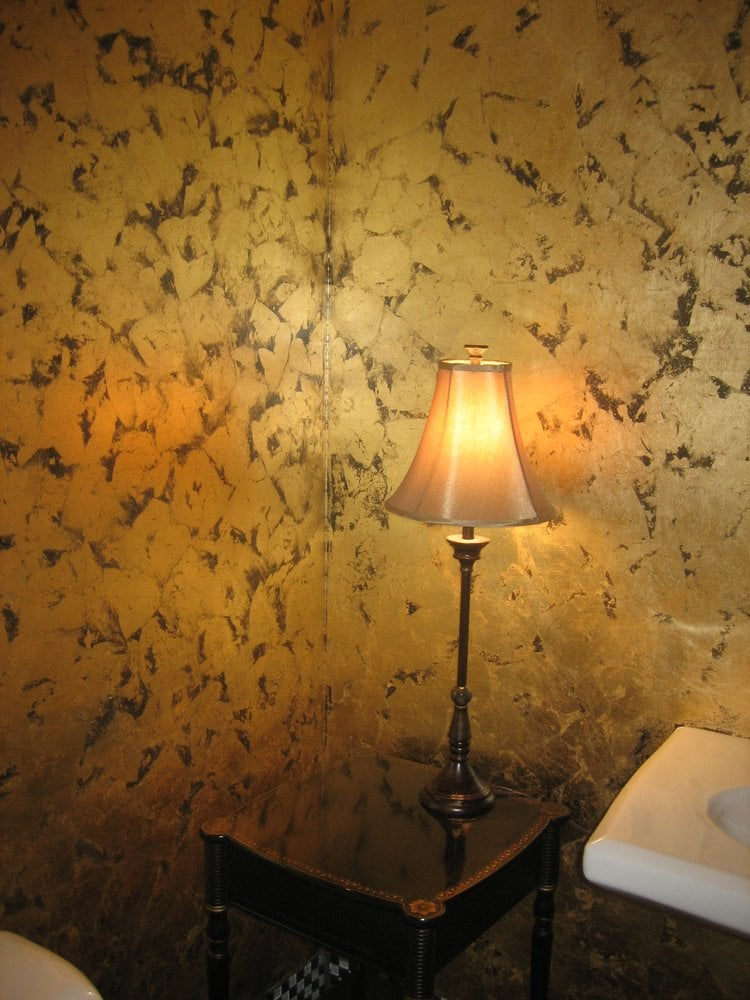 Distressed Gold Leaf on WALLS - Yelp