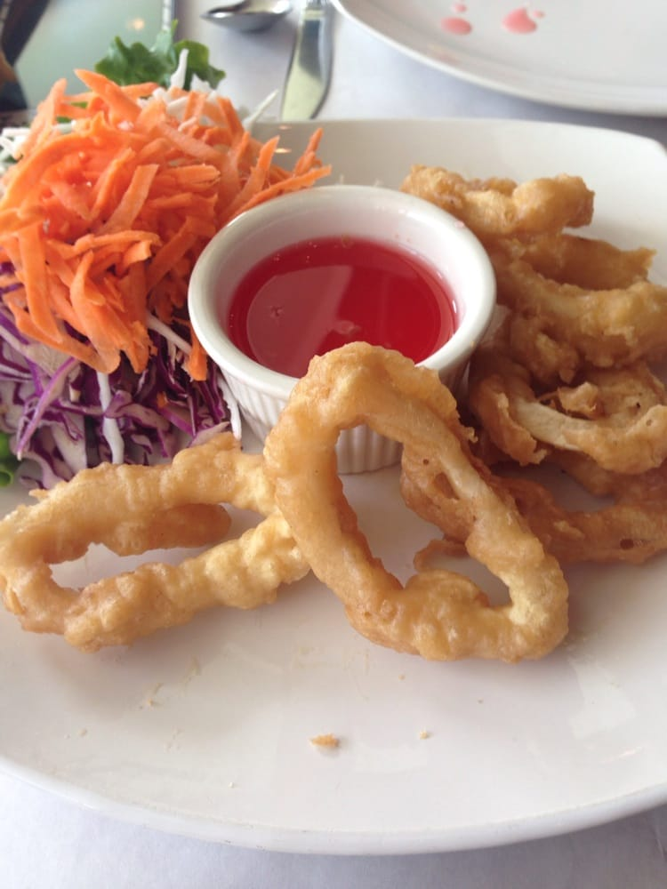 Fried calamari yelp for Anothai cuisine cypress