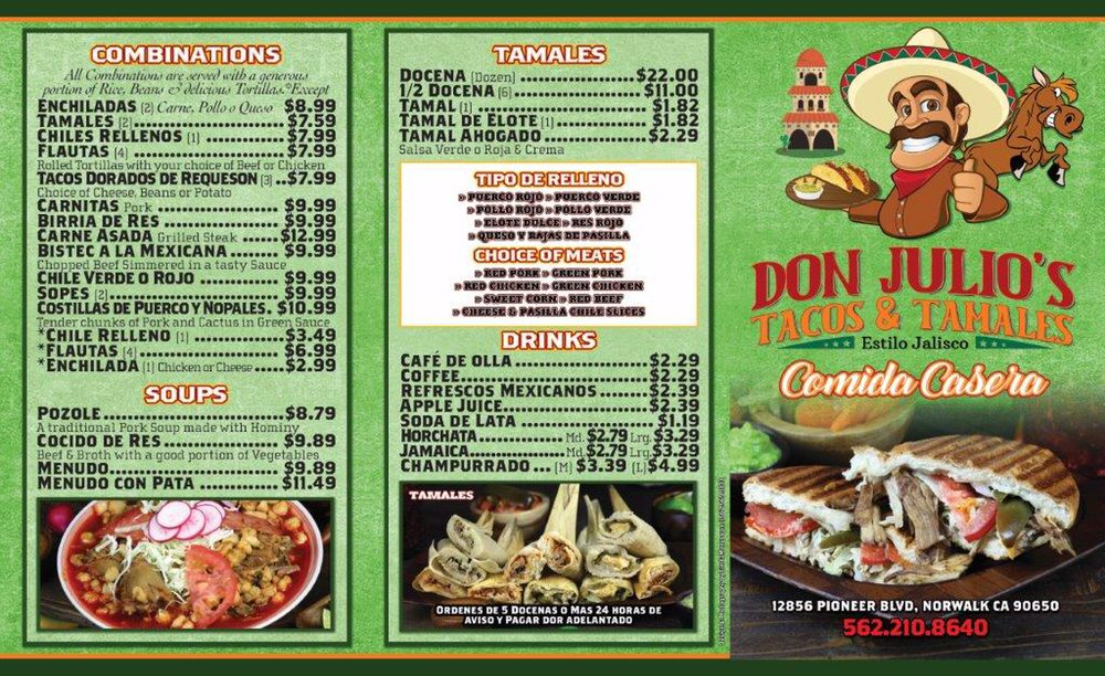 Don julios tacos y tamales: 12856 Pioneer Blvd, Norwalk, CA