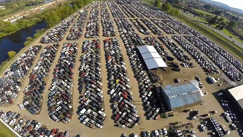 Aerial Picture Of The Vehicle Inventory And Entire Facility At B R