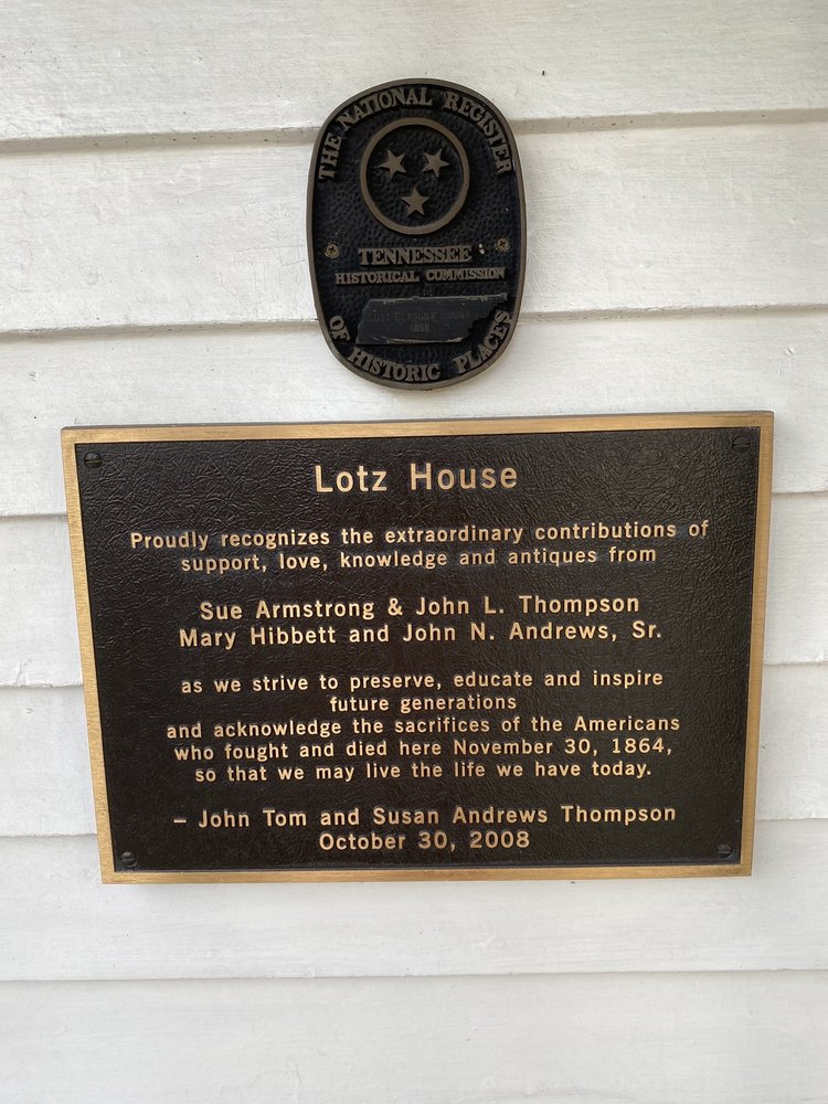 Lotz Civil War House Museum: 1111 Columbia Ave, Franklin, TN