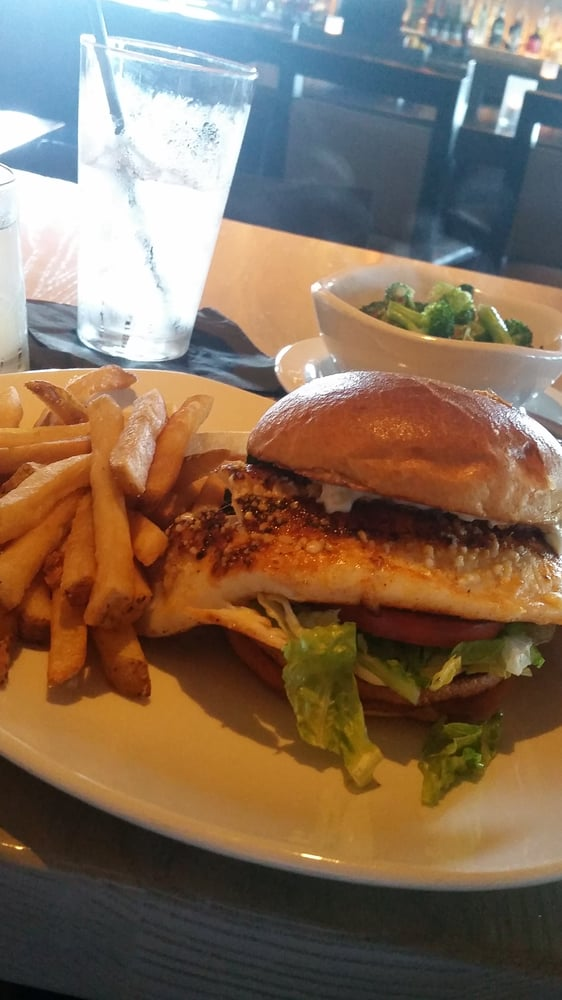 Bfg fish sandwich fries side of brocolli yelp for Fish bone grill