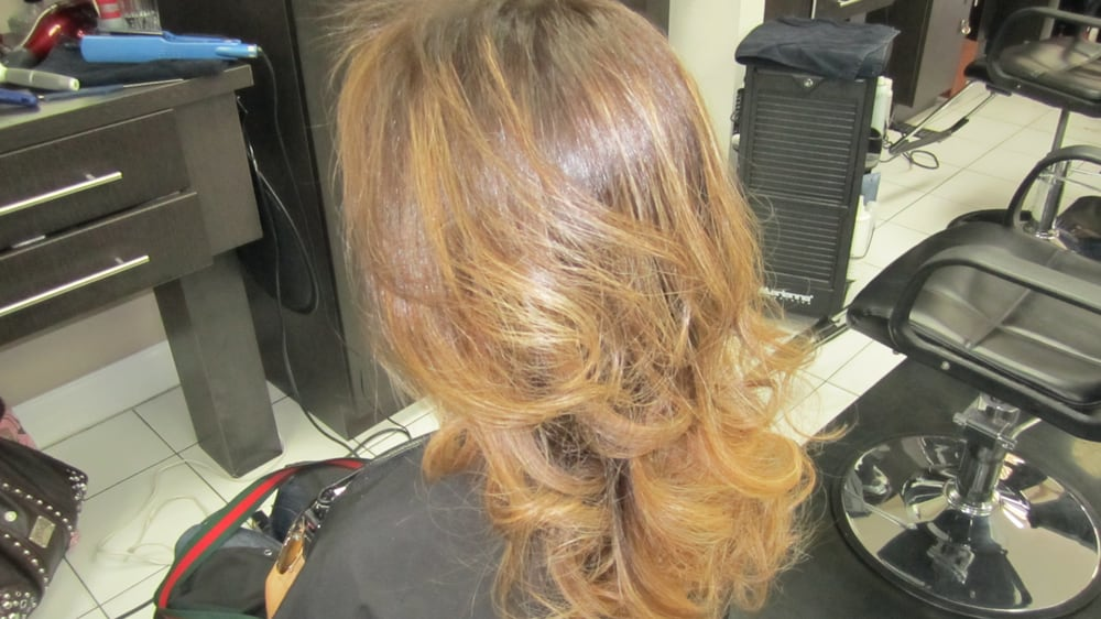 Base Color Level 7 And Gold Highlights Yelp