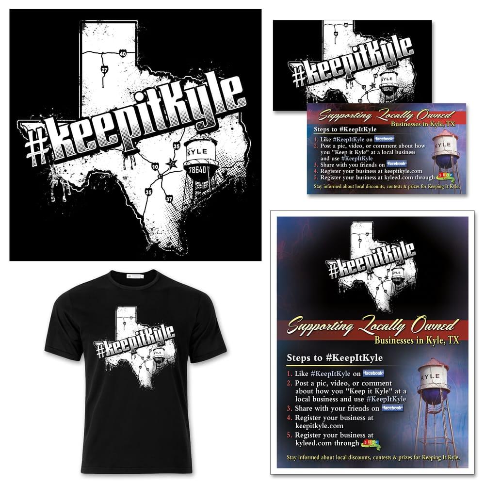 Logo, t-shirt, business card, and flyer design for #KeepItKyle ...