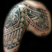 ad701c96bf9e5 Geometric tattoo by Photo of Balinese Tattoo Miami - Miami, FL, United  States. Polynesian tattoo by ...