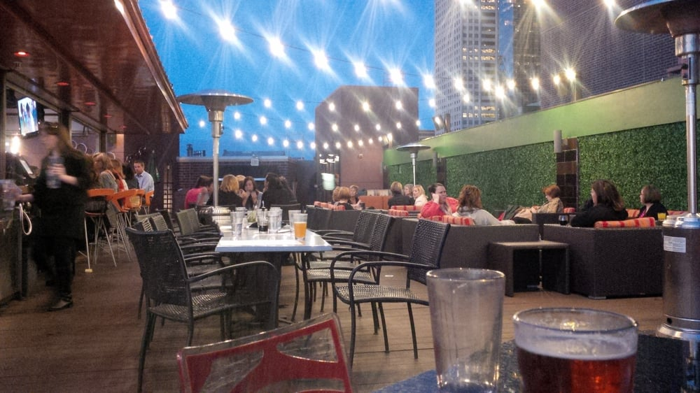 Rooftop Of Crave Downtown Minneapolis On An October Evening Yelp
