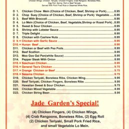 Jade Garden Chinese Food Menu Fasci Garden