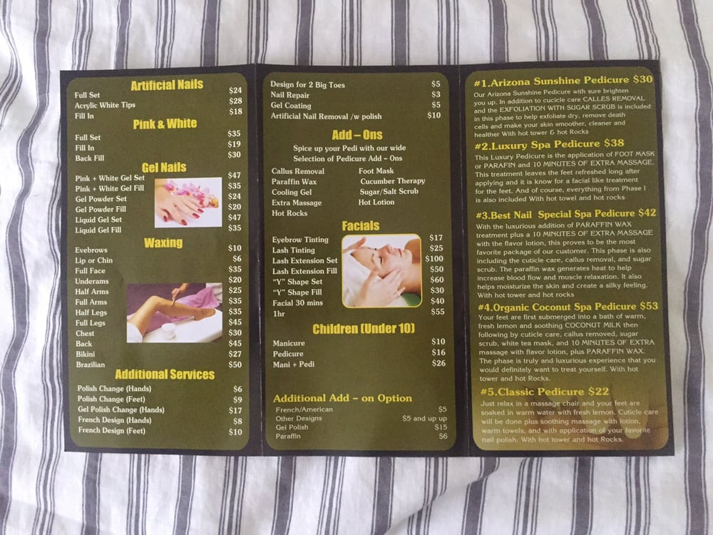 Best Nails & Spa Brochure with prices! (part 2) - Yelp