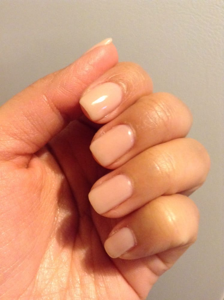 Shiny Gel Nails With Natural Color Yelp
