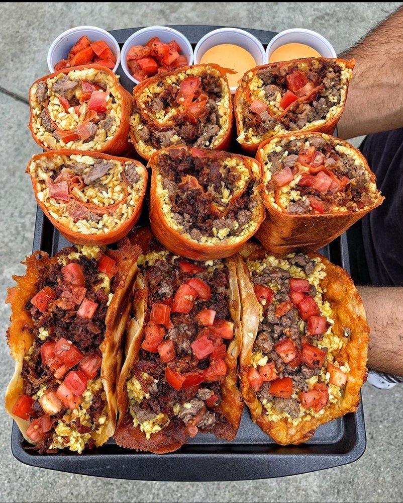 Food from Burrito Bomba