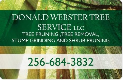 Donald Webster Tree Service: Gurley, AL