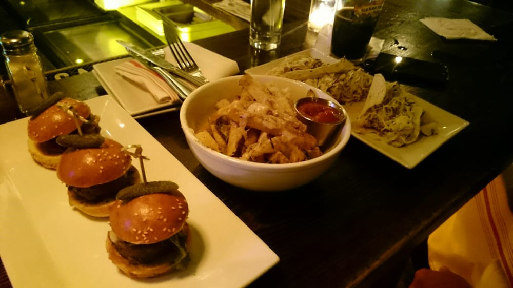Sliders And Fish Tacos With Awesome Fries Yelp