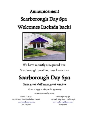 Scarborough Day Spa 311 Beech Ridge Rd ME Health Spas