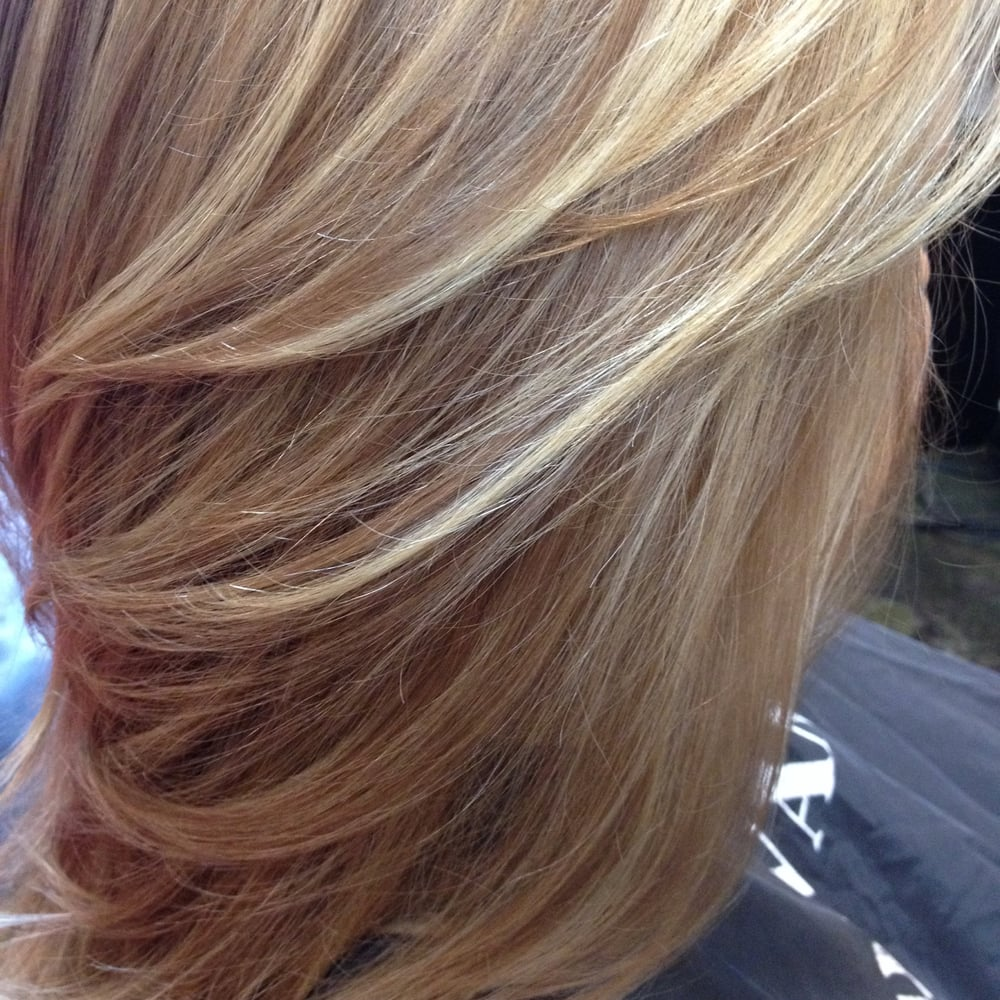 Honey Colored Hair With Sugar Blonde Highlights Yelp