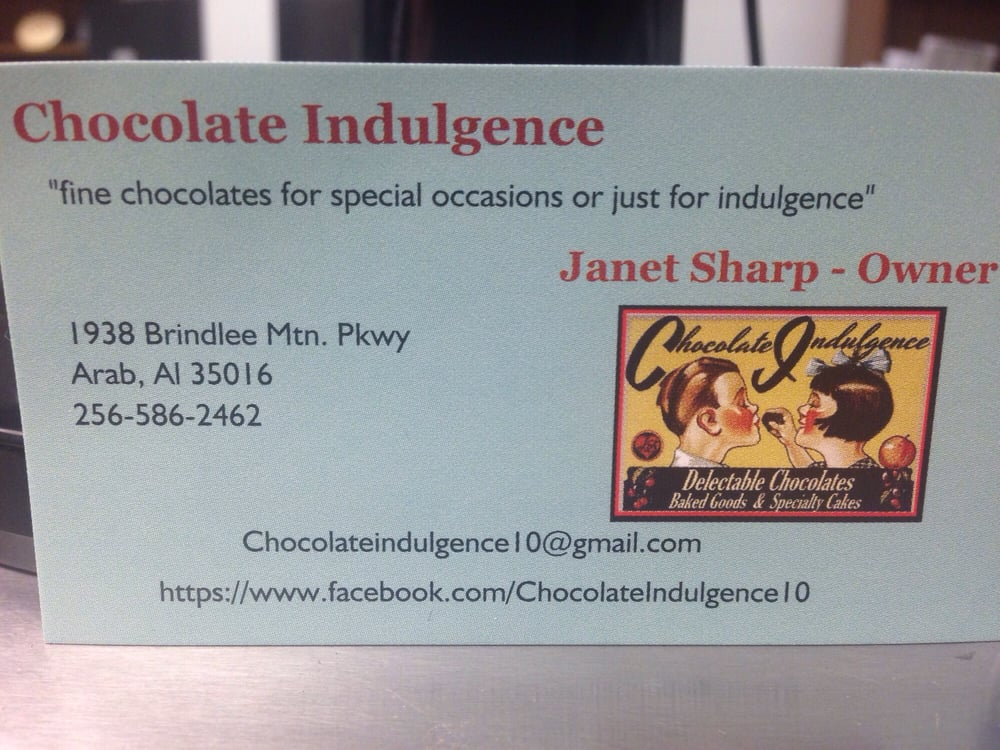 Chocolate Indulgence: 1938 Brindlee Mtn Pkwy, Arab, AL