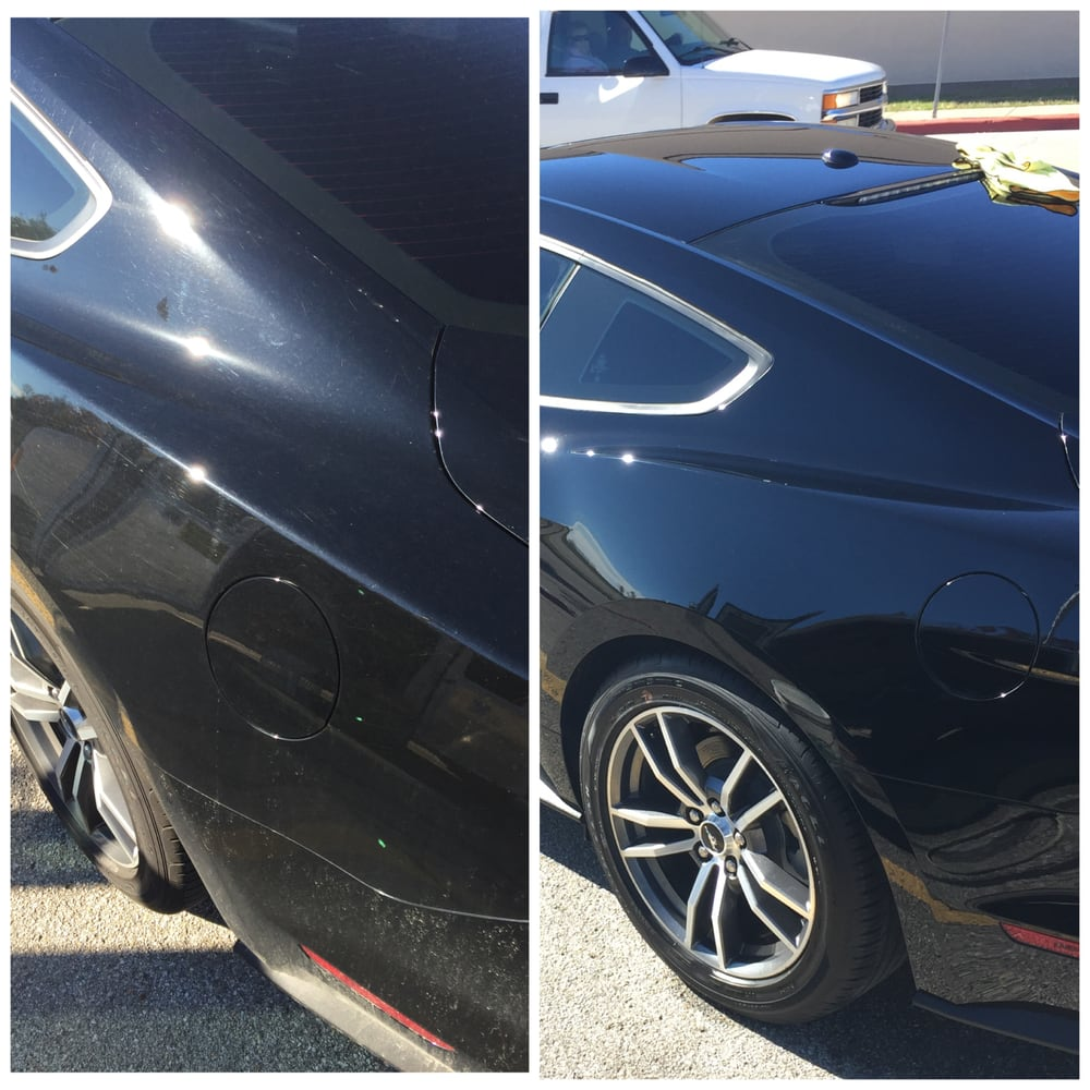 wash clay bar polish jet seal on this 2015 mustang left is before the correction the right. Black Bedroom Furniture Sets. Home Design Ideas