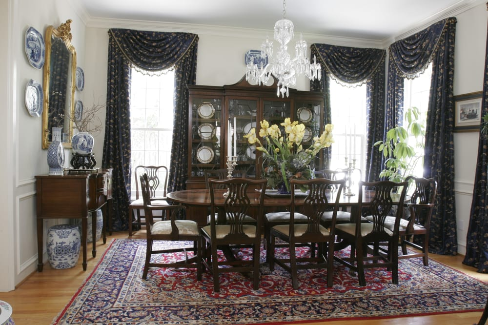 We furnished this formal dining room using english for Updating a traditional dining room