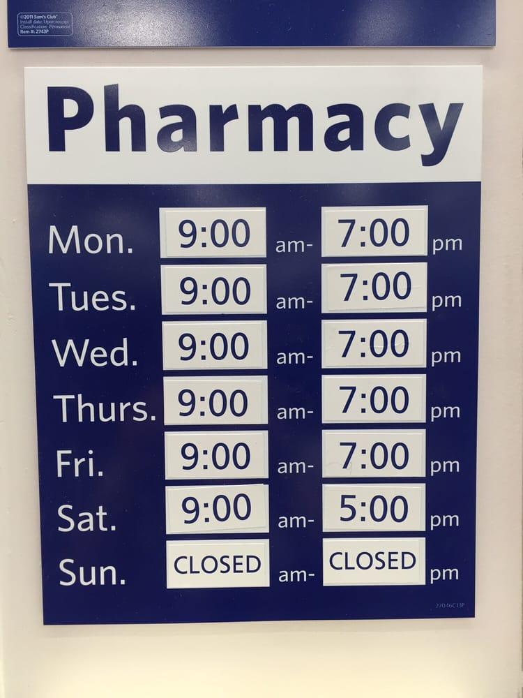 Sam's Club pharmacy hours - Yelp