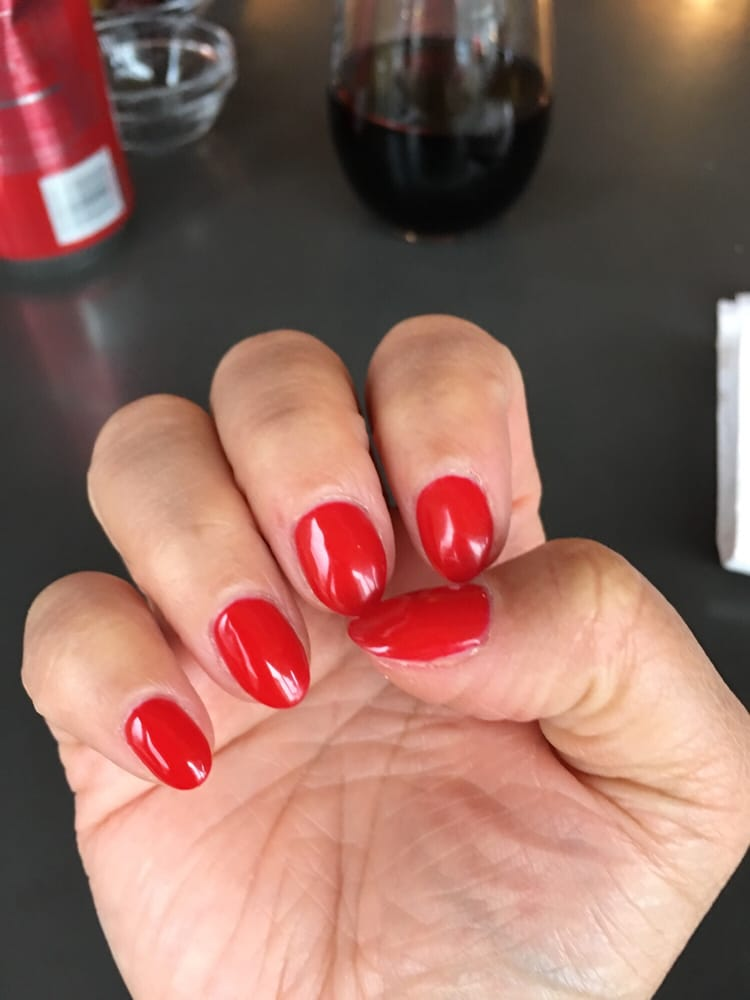 Perfect opi red apple gel manicure yelp for 10 over 10 nail salon