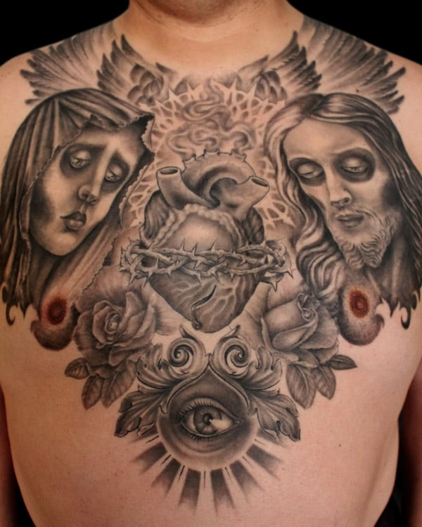 Black and grey chest piece tattoo yelp for Black and grey chest tattoos