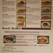 Rawz Cafe Sushi Menu