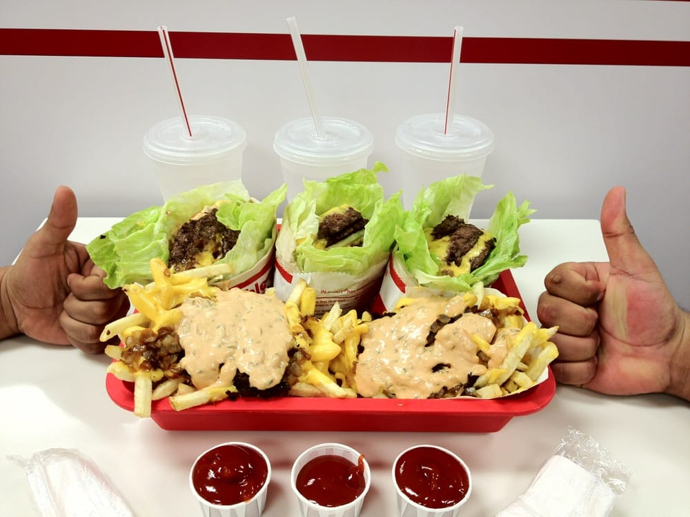 protein style burgers and animal style fries at in n out more like oh my god style america yelp. Black Bedroom Furniture Sets. Home Design Ideas