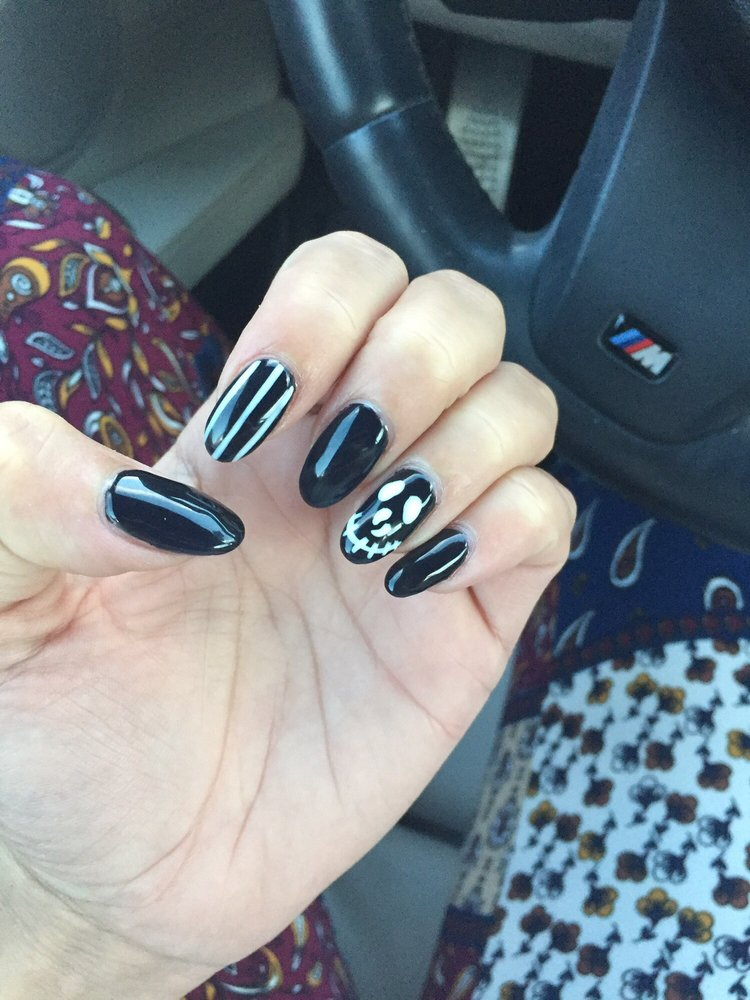 Nails by Lucy. Gel builder over my natural nail with gel polish and ...