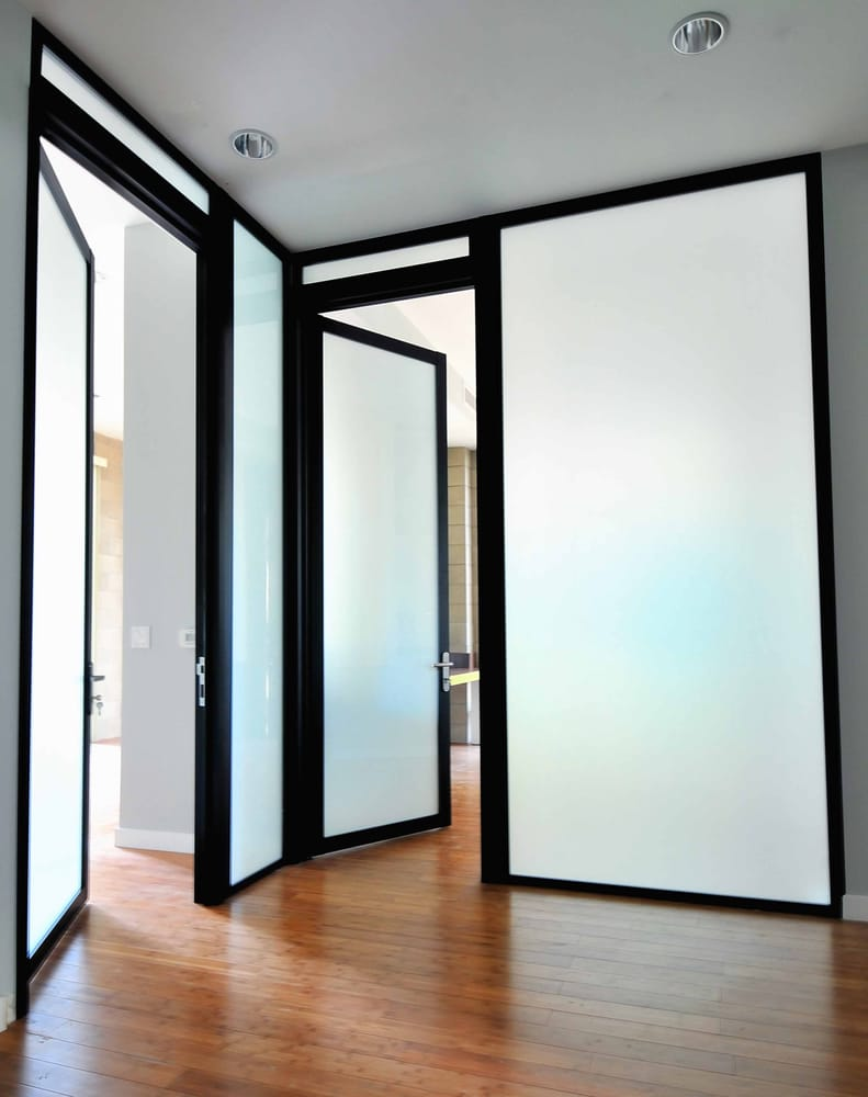 Photo of The Sliding Door Company - San Diego CA United States. Gorgeous & Gorgeous Semi-Translucent Glass for Swing Doors - Yelp