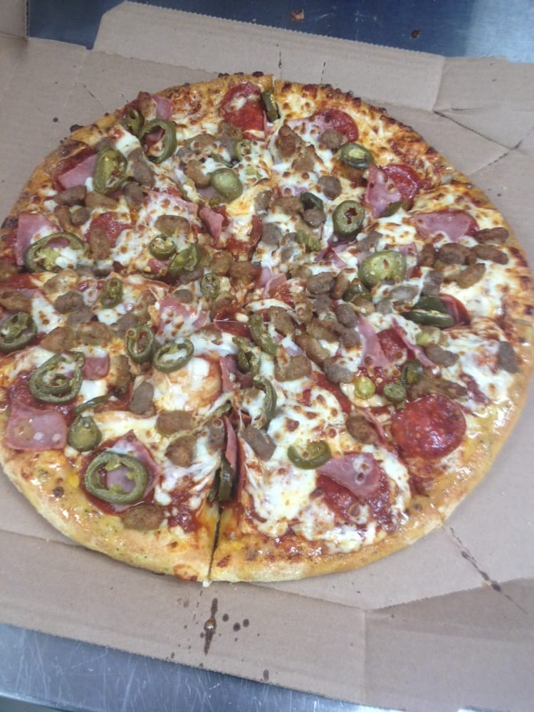 Large Hand Tossed Crust Meatzza With Jalape 241 Os Yelp