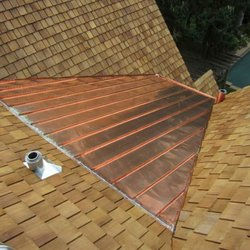 Photo Of Able Roofing   Newton, MA, United States. Flat Seam Copper Roofing  ...