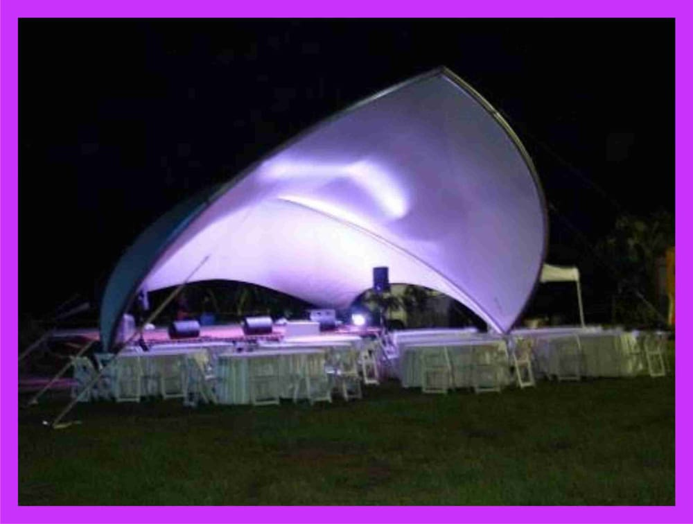 Photo of Island Shade Party u0026 Tent Rentals - Honolulu HI United States. & The Saddle Span tent with lighting provided by Mystical Sound ...